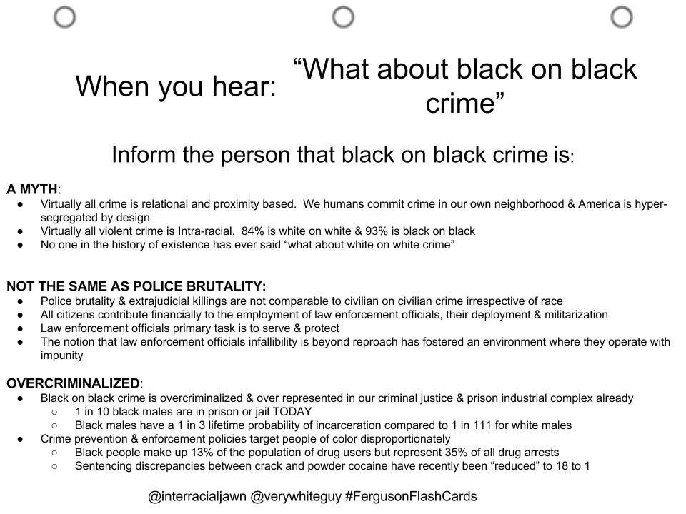 Ferguson Flashcards: What about black on black crime